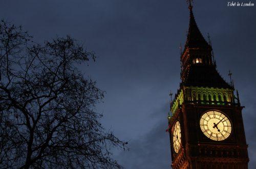 torre do relogio do big ben a noite