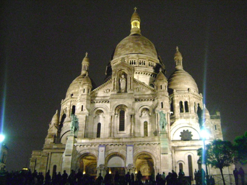 sacre coeur paris, igreja a noite
