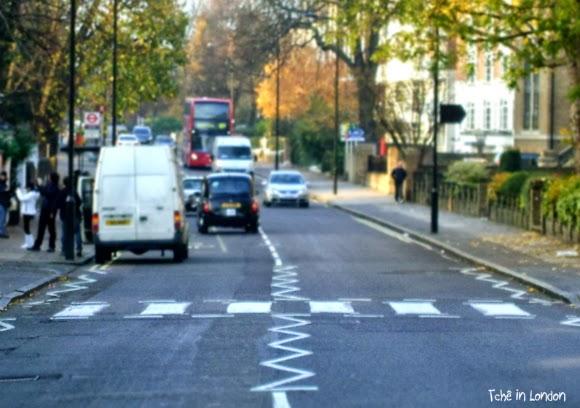 faixa de segurança de abbey road vazia