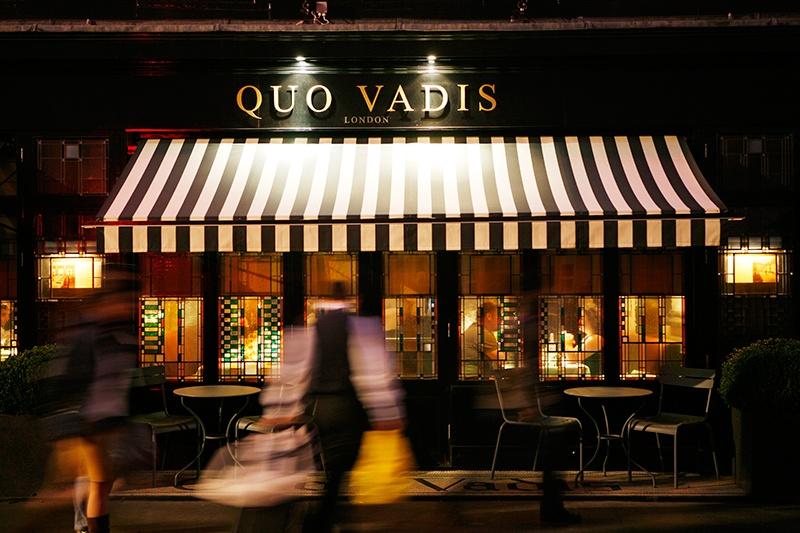 entrada do restaurante quo vadis em londres