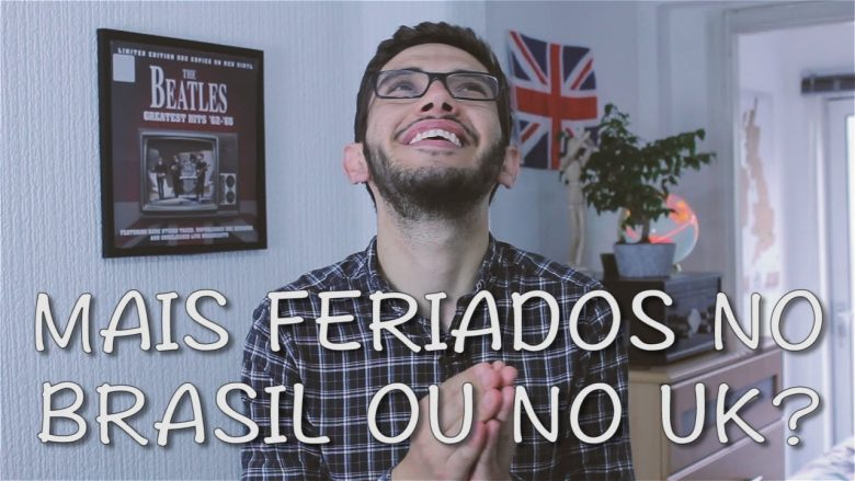 rafa maciel guri in london falando sobre os feriados no brasil e feriados na inglaterra