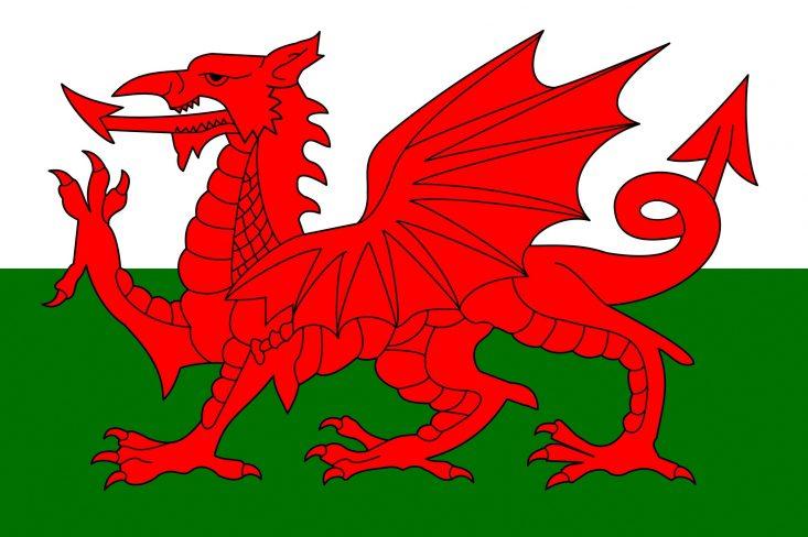 bandeira do país de gales