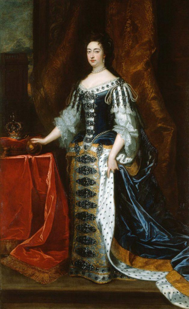 Rainha Mary II, filha de James II e esposa de William III. Ela assumiu o trono depois da Revolução Gloriosa. Em 1690, já como rainha. Hoje pertence à Royal Collection