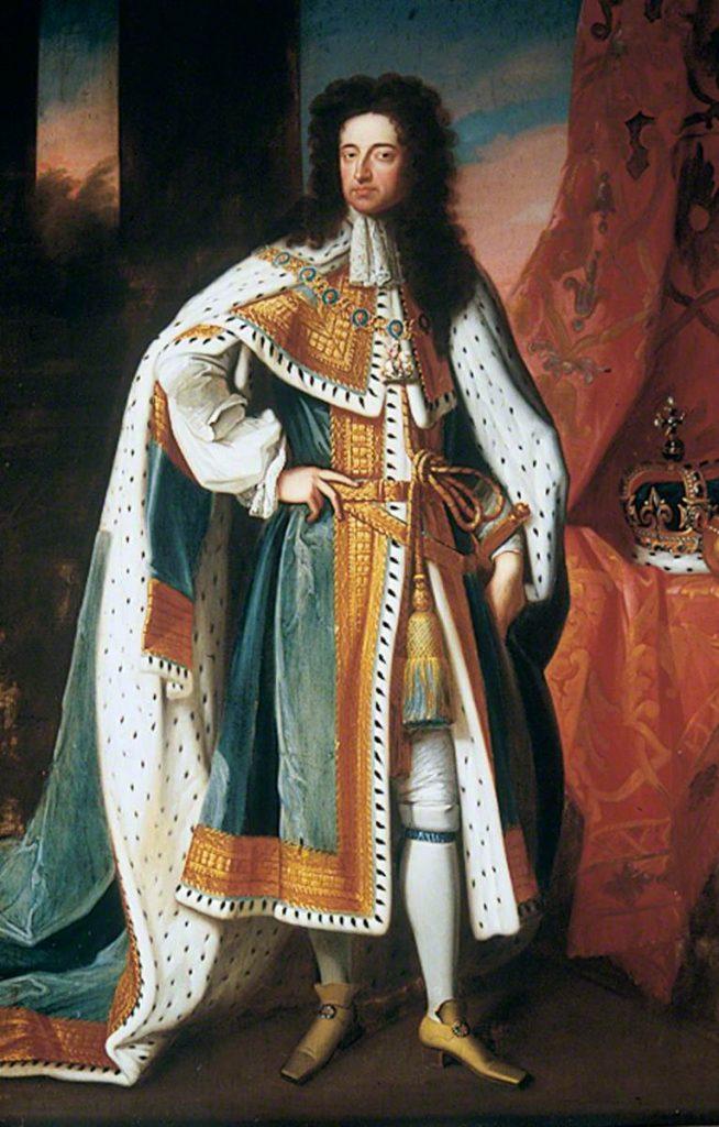 William III que invadiu a Inglaterra na revolução gloriosa. Por Godfrey Kneller, já quando rei ao lado de sua esposa Mary II