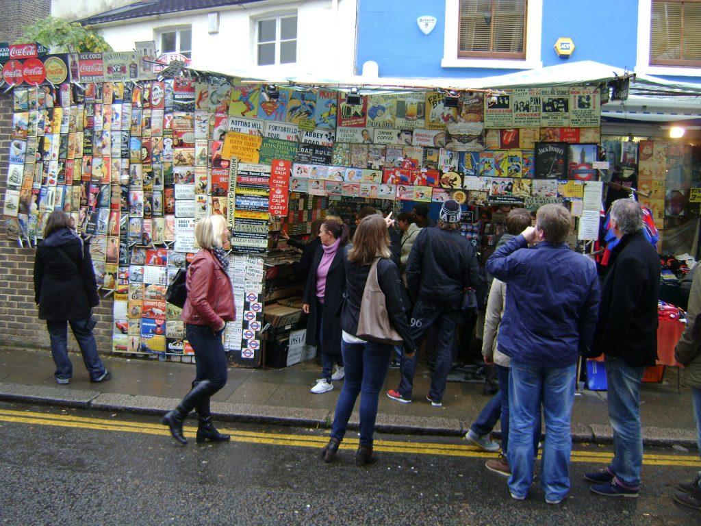 mercado de rua de notting hill em londres