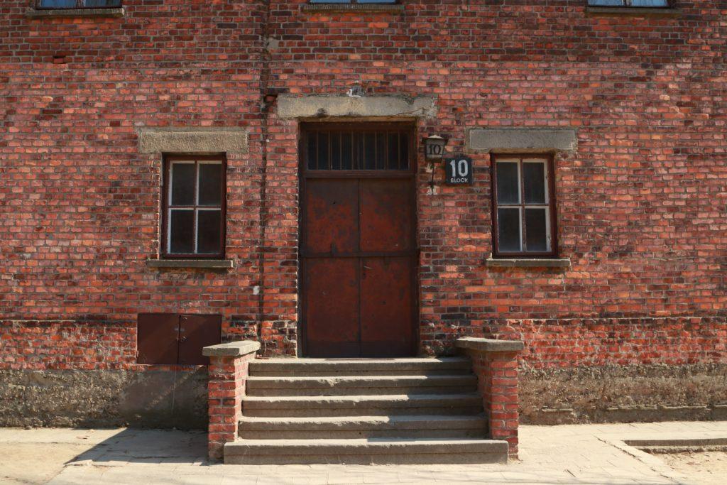 Escadaria do bloco 10 de Auschwitz