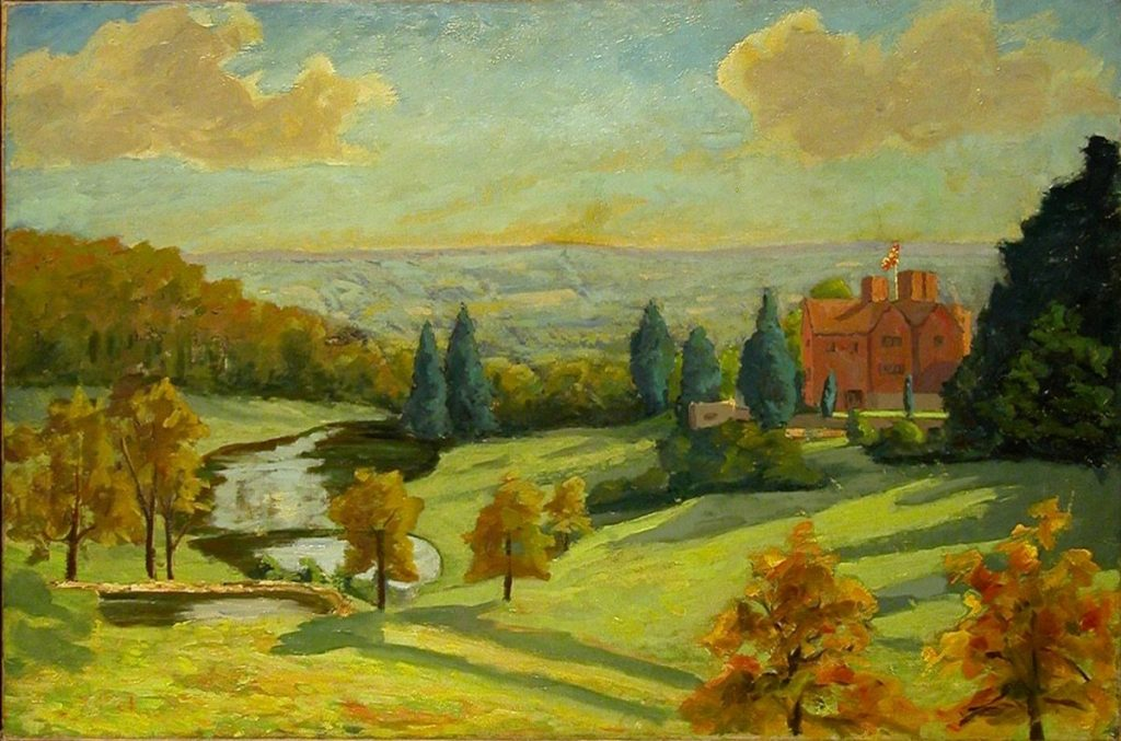 pintura chamada View of Chartwell by Sir Winston Churchill (Woodstock 1874 - London 1965)