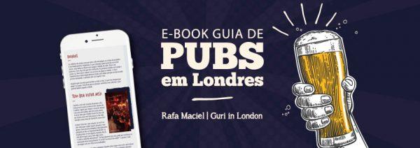 banner do ebook guia de pubs em londres com simulação no celular
