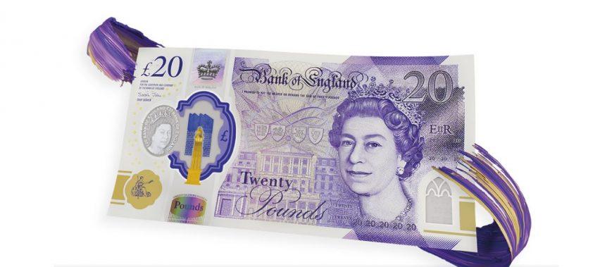 nova nota de 20 libras lançada em 2020 com o rosto da rainha elizabeth ii