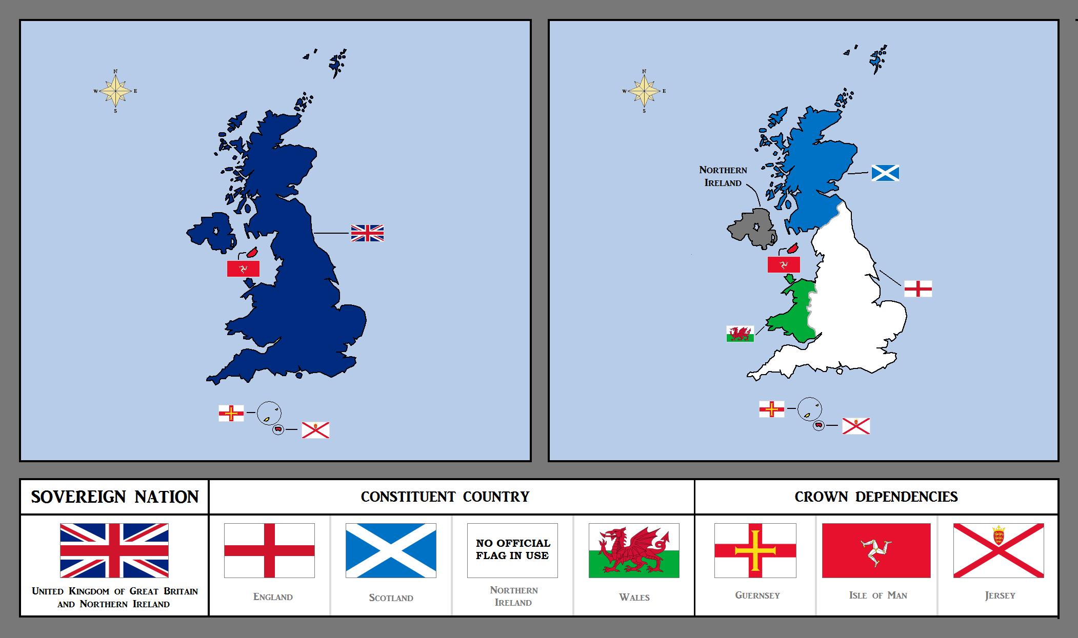 mapa do Reino Unido, grã bretanha e das ilhas britanicas