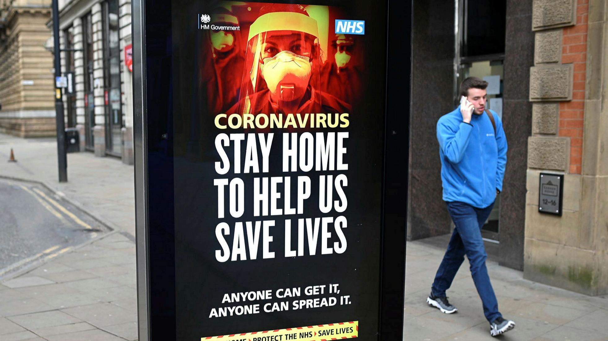 coronavirus anuncio em londres pra ficar em casa durante o lockdown